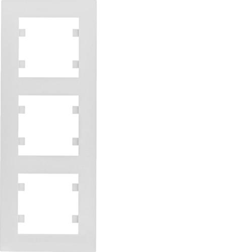 Рамка 3X вертикальная Lumina-Intens белая