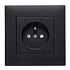 Розетка з з/к Lumina черная 16А/230В, фото 4