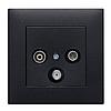Розетка з з/к Lumina черная 16А/230В, фото 5