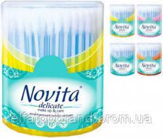 Палочки Косметические Ватные Ушные NOVITA Delicate Make Up & Care Новита  Моноблок 160 шт