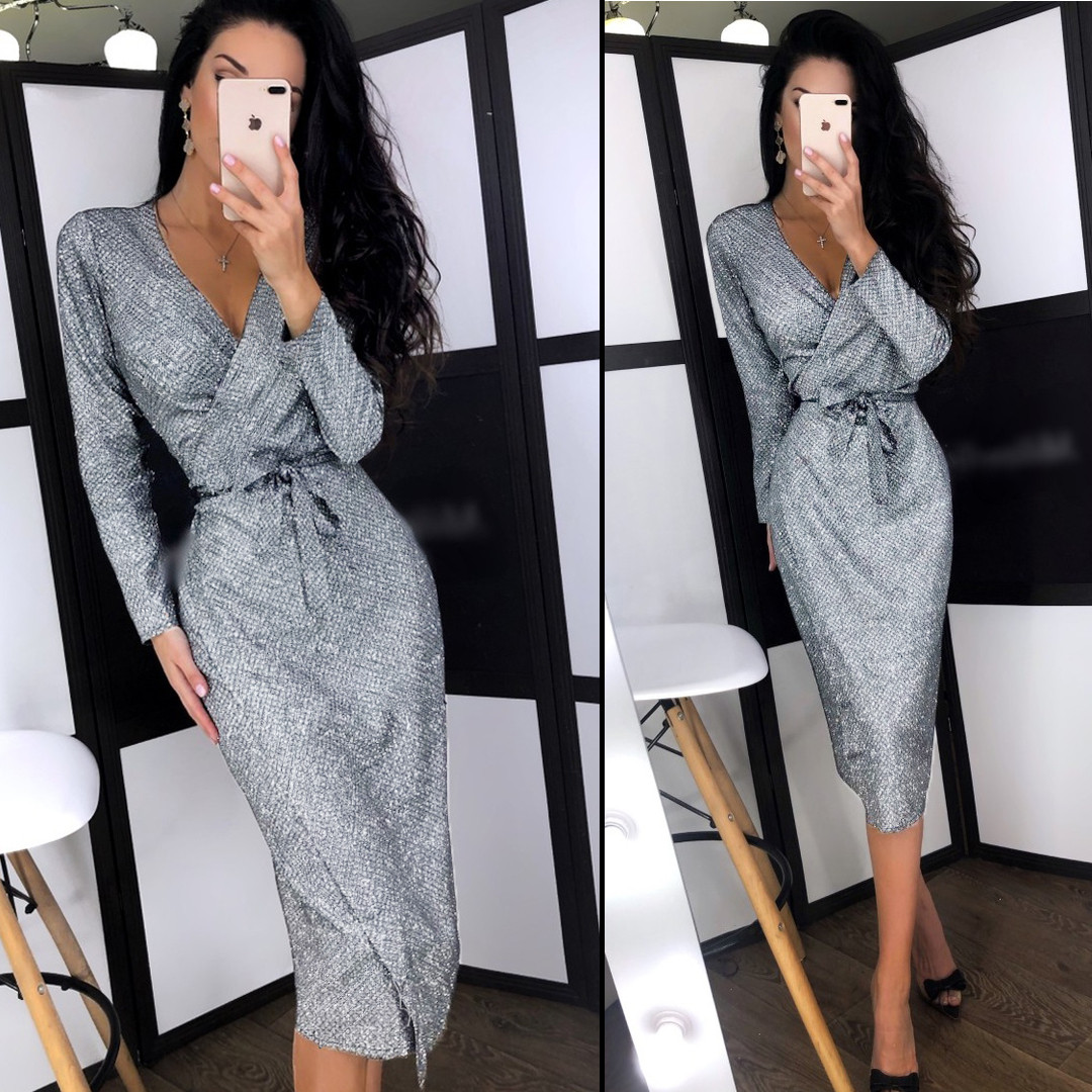 Блискуча вечірня сукня (Код MF-198) S