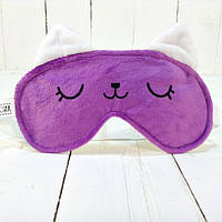 Маска для сна Strekoza Котенок Айси 19см фиолетовый, фото 1