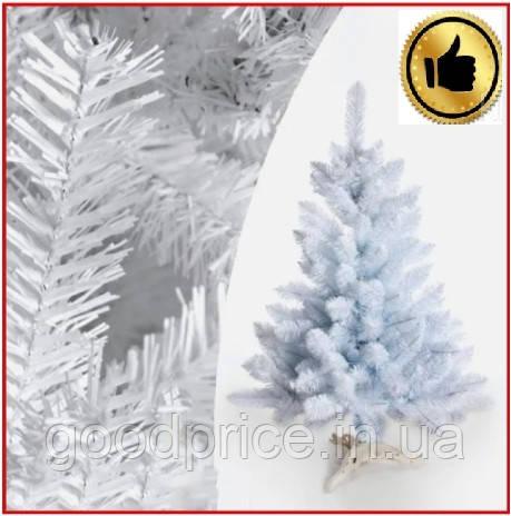 Елка белая снежная 2.2 м искусственная с подставкой классическая ПВХ, ель искусственная заснеженная Лесная бел