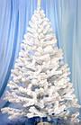 Елка белая снежная 2.2 м искусственная с подставкой классическая ПВХ, ель искусственная заснеженная Лесная бел, фото 2