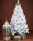 Елка белая снежная 2.2 м искусственная с подставкой классическая ПВХ, ель искусственная заснеженная Лесная бел, фото 10
