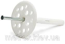 """Дюбель фасадный тарельчатый для теплоизоляции """"Обрій"""" 10х120 с металлическим стержнем, 100 шт."""