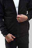 Флисовая кофта Мужская 260 Черная, фото 5