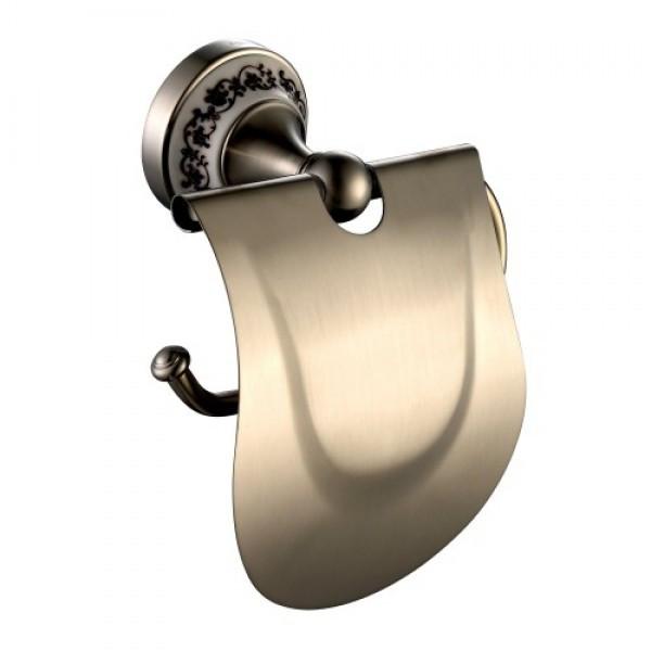 Тримач туалетного паперу з кришкою Kraus APOLLO KEA-16526BN нікель