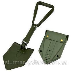 Лопата складная полевая  немецкой армии  BW в футляре olive, из прочной стали   MFH Германия