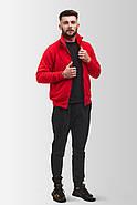 Флисовая кофта Мужская 260 Красная, фото 3