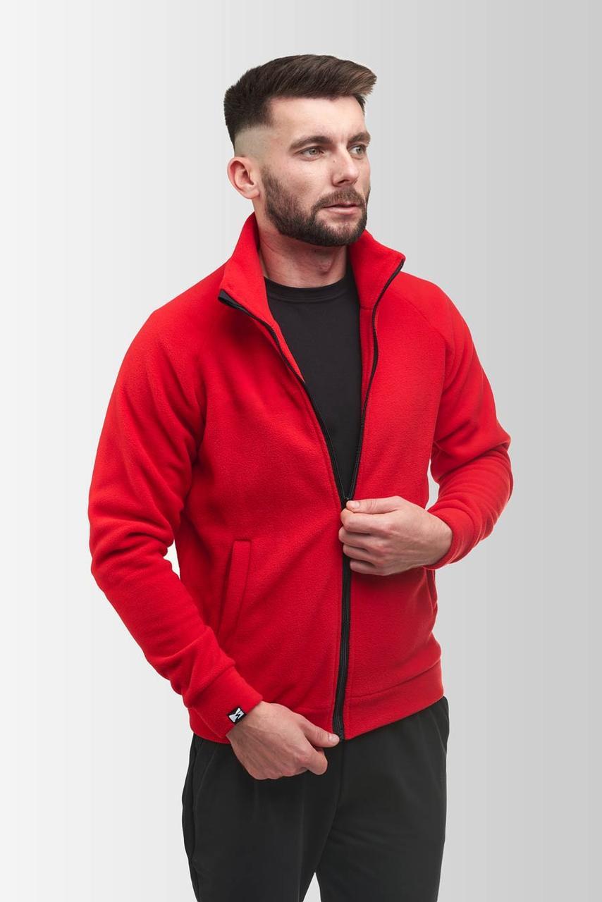 Флисовая кофта Мужская 260 Красная