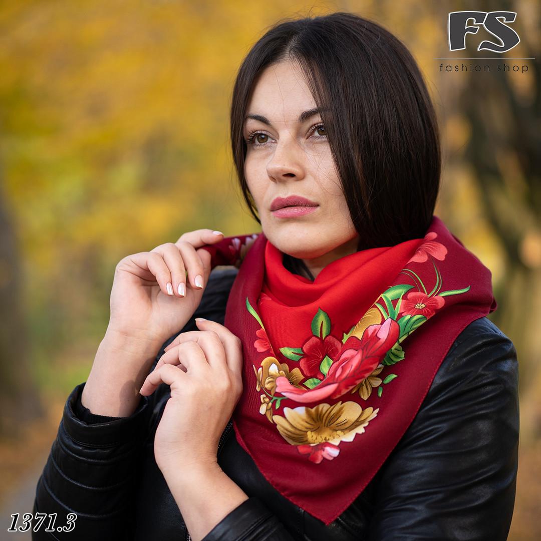 Женский шерстяной платок Цветочный Сад