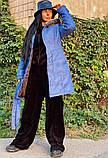 Пальто зимнее голубое, фото 2