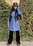 Пальто зимнее голубое, фото 4
