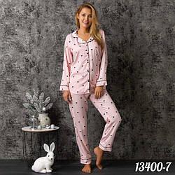 Комплект-двойка женский: рубашка и брюки Dominant (Турция) 13400-7   1 шт.