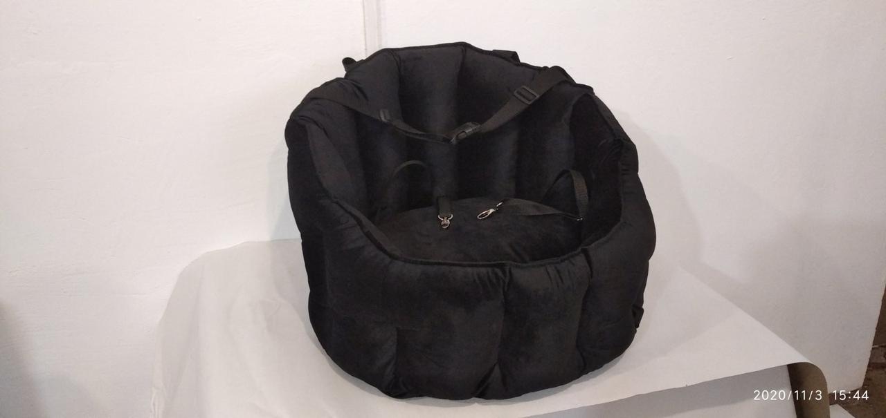 Автокресло для собак Велюр ,лежак в авто, автокресло для перевозки собак, автокресло, автокресло для животных