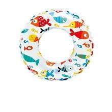 Надувной круг Intex 59230 (51 см) Морские рыбки Белый