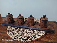 Деревянный набор для хранения специй