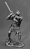 Сувенір сплав олова німецький лицар 14 століття з гербом у вигляді голови вепра з гранд-фальшионом, фото 2