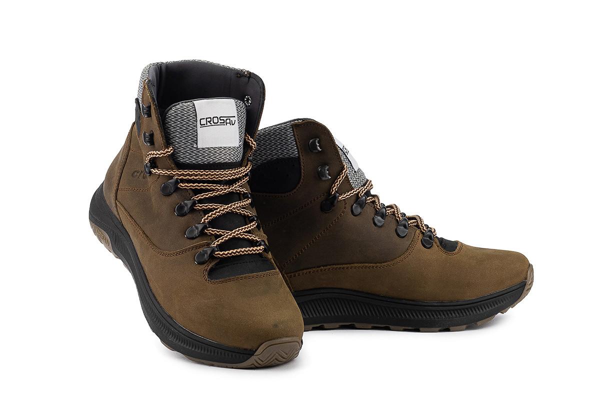 Подростковые ботинки кожаные зимние оливковые
