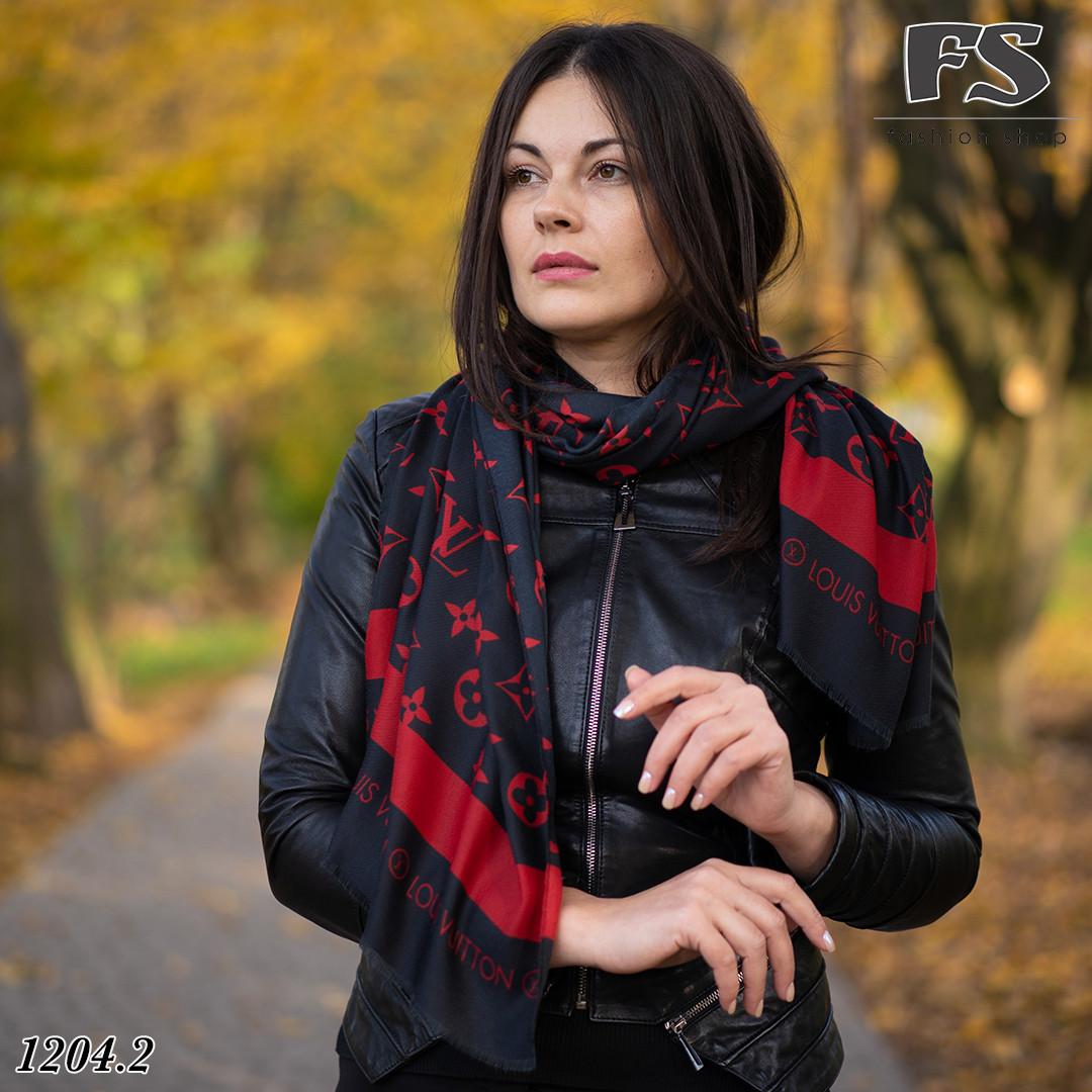 Чёрно-красный стильный шарф