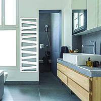 Немецкий полотенцесушитель комбинированный ZEHNDER KAZEANE 500х1226 с теном HOTS скрытый монтаж, белый, фото 1