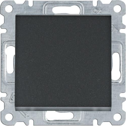 Выключатель 1-кнопочный однотактный Lumina черный 10АХ/230В
