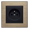 Выключатель 1-кнопочный однотактный Lumina черный 10АХ/230В, фото 2
