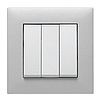 Выключатель 1-кнопочный однотактный Lumina черный 10АХ/230В, фото 6