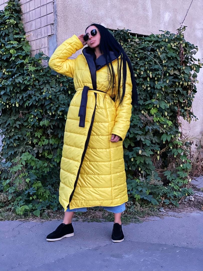 Пальто зимнее Монако желтое