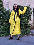 Пальто зимнее Монако желтое, фото 4