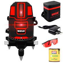 Профессиональный лазерный уровень, нивелир, 5 линий 6 точек WOSAI WS-A5