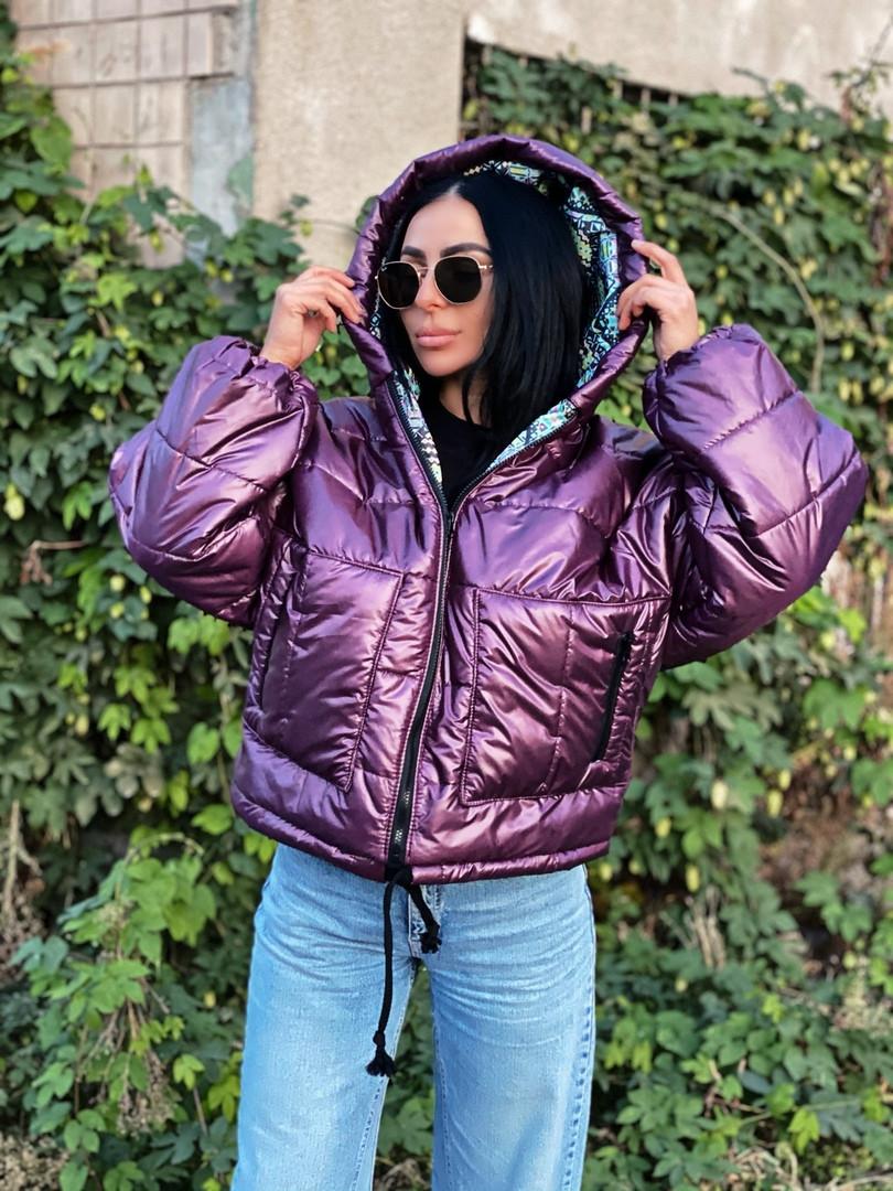 Куртка зимняя фиолетовая
