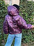 Куртка зимняя фиолетовая, фото 4