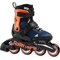Детские ролики Rollerblade Microblade Boy Blue/Orange раздвижные