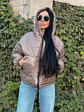 Куртка зимняя темный беж, фото 2