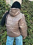 Куртка зимняя темный беж, фото 3