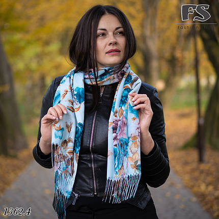 Весняний голубий  шарф Легкість, фото 2