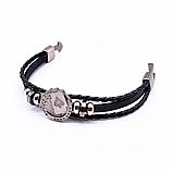 Кожаный браслет «Full House» 21 см черный, фото 2