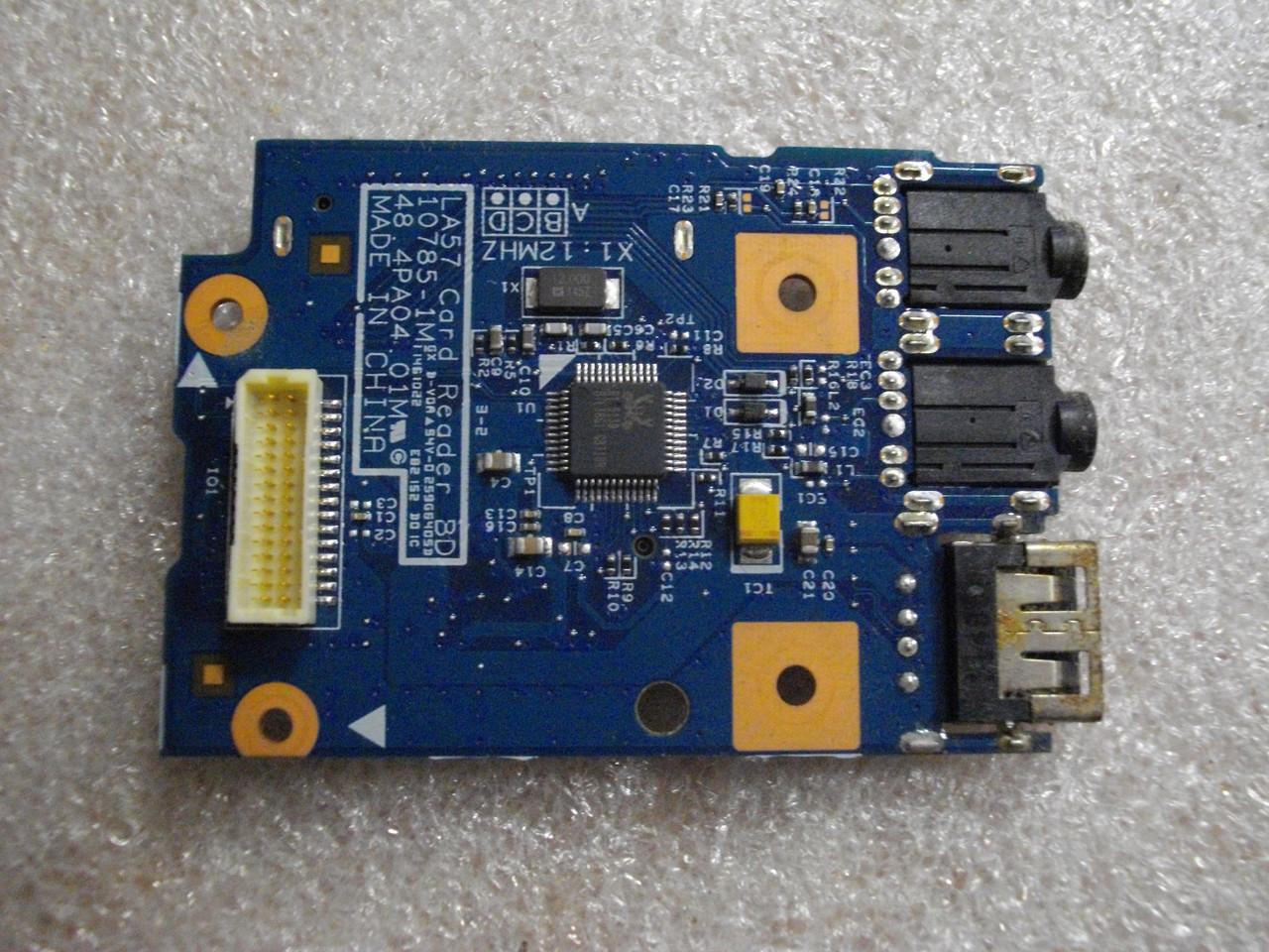 Плата с USB портом, аудио звук, картридер 48.4PA04.01M Lenovo B570, B575, V570, V575