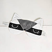Маска для сна Strekoza Енот 20см серый, фото 1