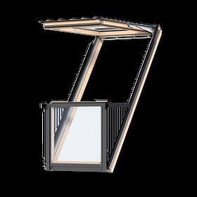 Cabrio окно- балкон Velux Premium линия + оклад (0416)