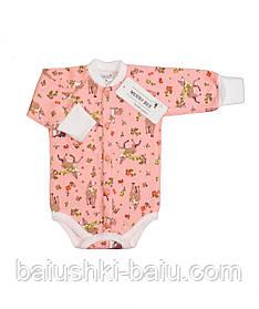 Боди для новорожденной девочки (футер)