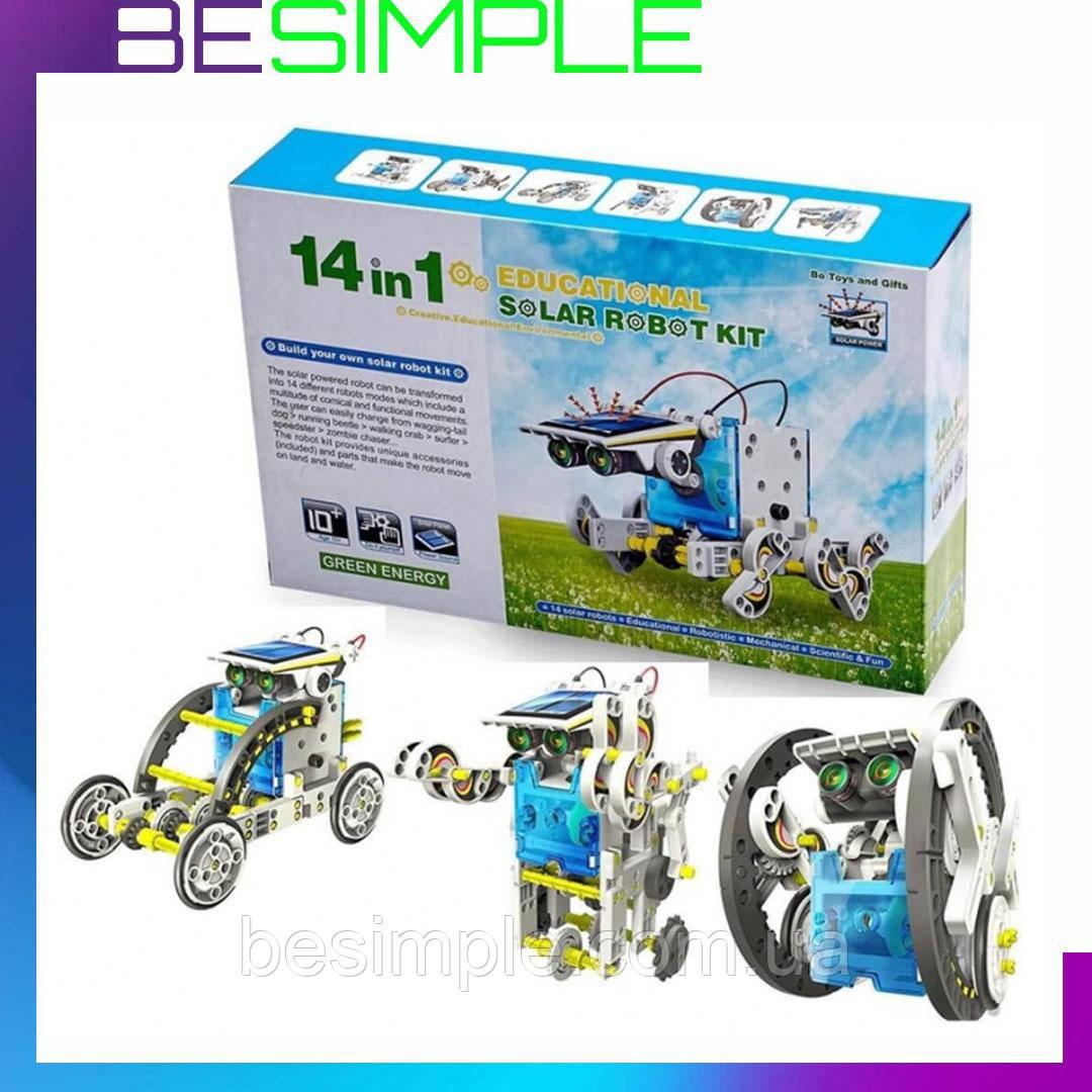 Конструктор робот на сонячних батареях Solar Robot 14 1