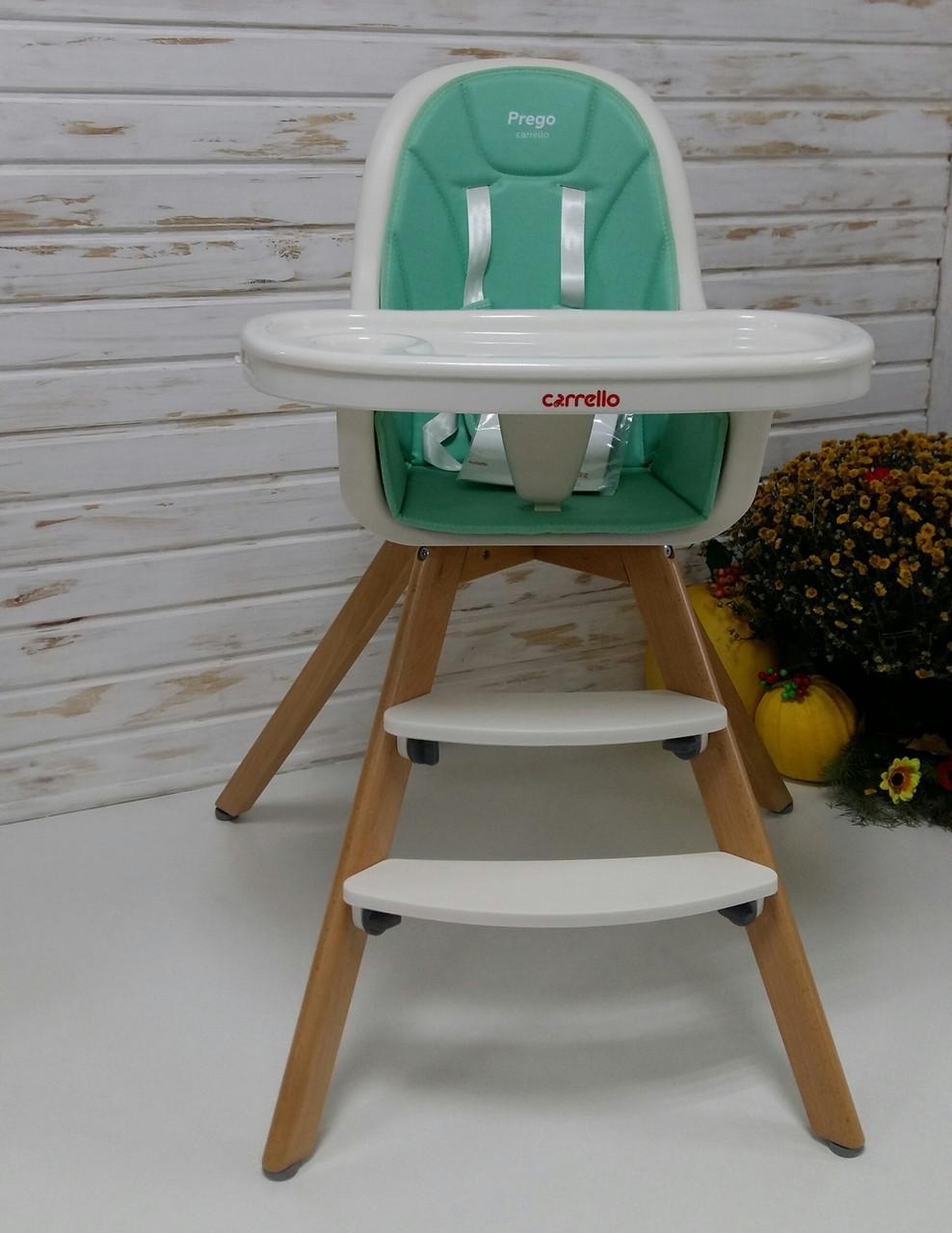 Стульчик для кормления CARRELLO Prego Aqua Green CRL-9504