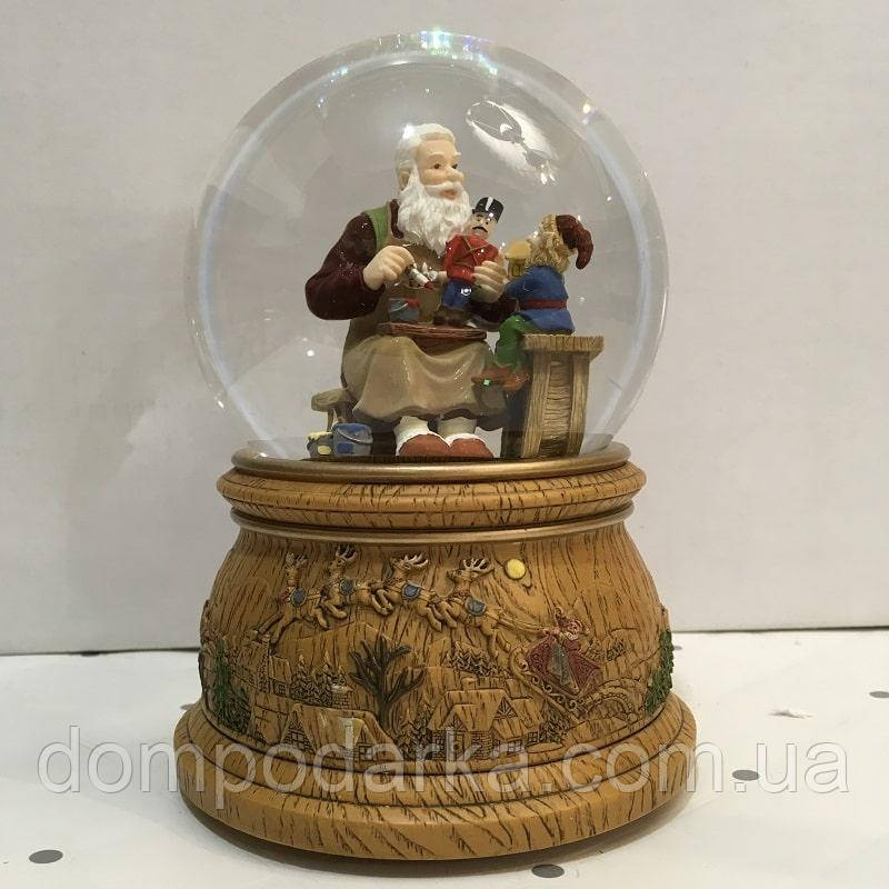 "Снежный музыкальный шар ""Санта"""