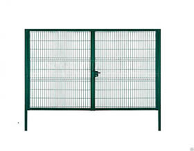 Ворота свар с полимерным покрытием Сітка Захід  высота 2.0м длина 4м компл столбы навесы зад (0927)