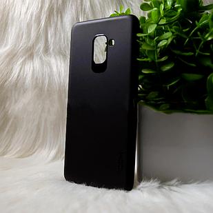 "Силіконовий чохол Samsung A8+ 2018/A730 ""VIP"" Чорний (black)"