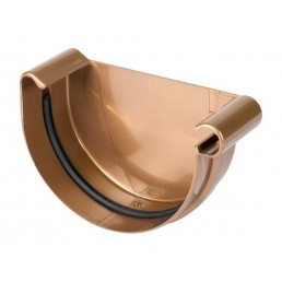 Заглушка желоба универсальная с уплотнителем медная De Mazzonetto Италия 127/80 мм