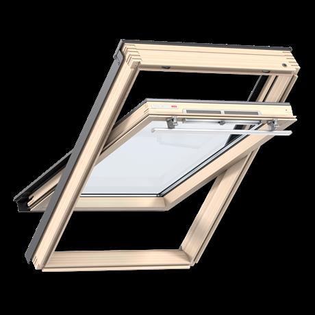 Мансардное окно Velux Оптима GZR3050B CR04 ручка сверху + оклад CR04 55*98 см (0824)